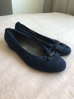 Jenny Peep Toe ballerina's donkerblauw