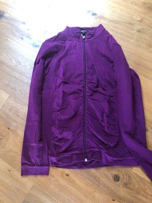 Amisu Chaqueta de tela de sudadera violeta amarronado