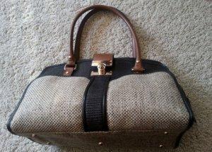 Schöne beige-schwarz-braun-goldene Tasche von Accesorize