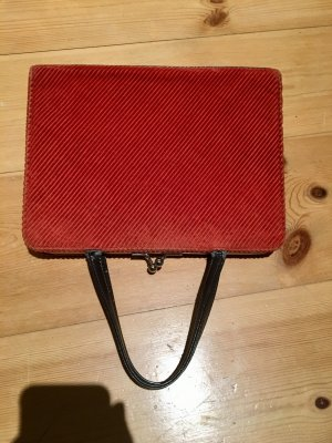 Schöne, besondere Cord-Handtasche in warmem Orange