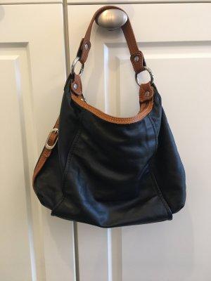 Pouch Bag black-cognac-coloured