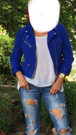 Schöne Biker Jacke blau