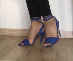 Schöne blau lila Sandaletten Gr 36