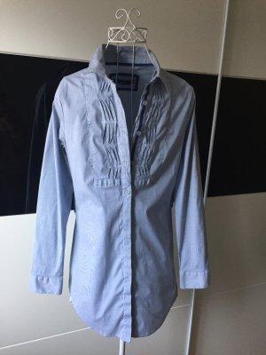 Schöne blau-weiße lange Bluse (Longbluse)
