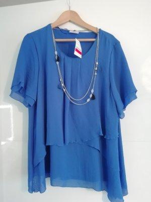 Canda Tunic Blouse silver-colored-blue