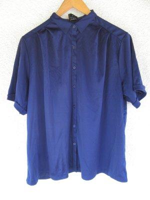 schöne blaue Bluse Vintage Retro oversize Gr. 42 44