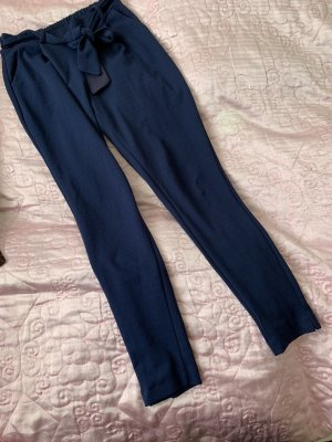 Wollen broek donkerblauw