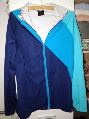 Schöne blaue Laufjacke zum Sport von Adidas running, Gr. L