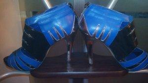 schöne  blaue pumps mit schlangenmuster usa