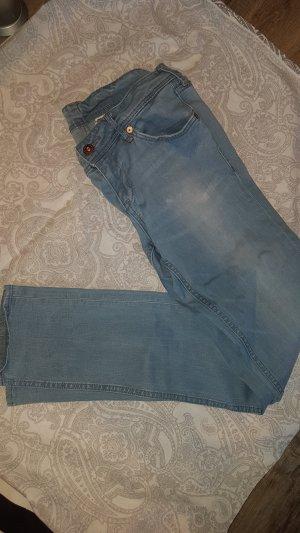 schöne blaugraue skinny low waist Jeans