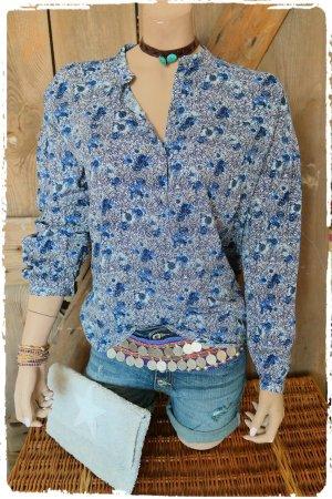 Tunique-blouse violet-bleu