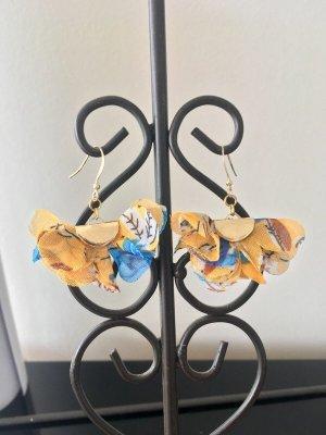 Schöne Blumen  Ohrringe mit Goldfilled 14 Karate Haken