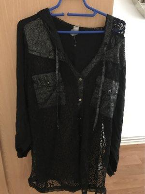 Schöne Bluse 44 Größe neu schwarz