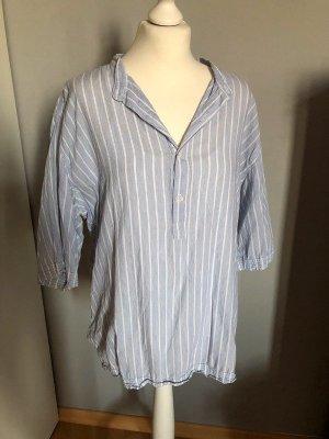 American Apparel Camicia blusa bianco-blu fiordaliso