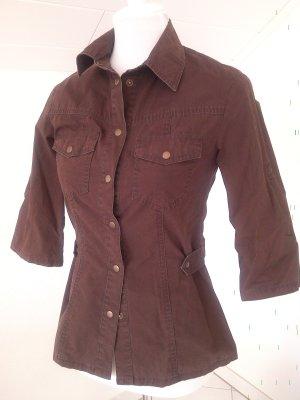 schöne Bluse/Hemd, braun,Gr.34/xs,Orsay