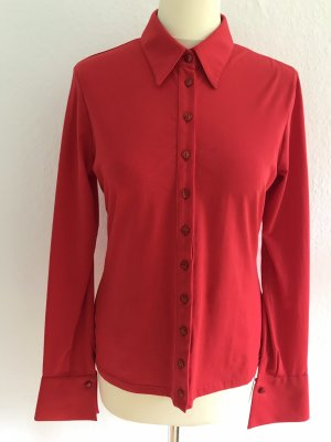 Anne Fontaine Shirt Blouse red cotton