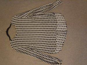 Schöne Bluse in schwarz/weiß mit Katzenprint