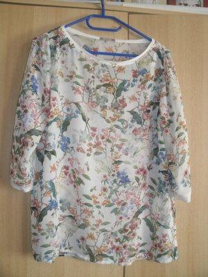 Schöne Bluse mit Blumenprint 34