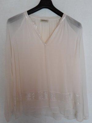 Schöne Bluse mit Pailletten in Cremefarben