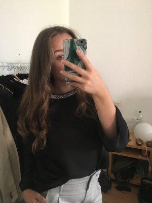Zara Blusa brillante negro