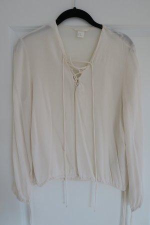 Schöne Bluse mit Schnürung Gr. 38