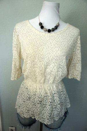 Schöne Bluse mit Spitze Made in Korea