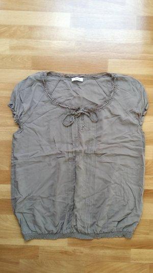 schöne Bluse/ Top in grau beige / M / Yessica