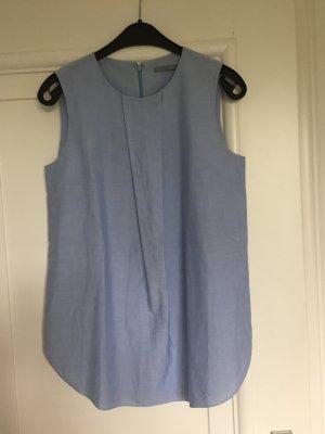 COS Blouse sans manche bleu azur coton