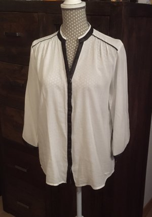 edc Stand-Up Collar Blouse white-black