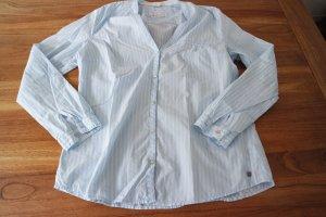 Schöne Bluse von Esprit, blau, getreift in Größe 42, neuwertig
