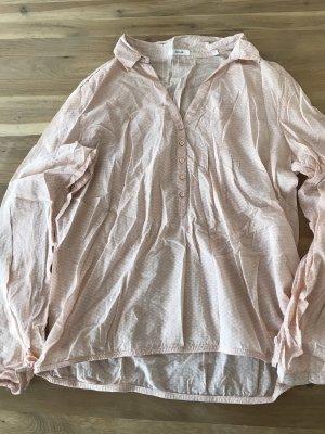 Opus Slip-over blouse rosé-wit Katoen