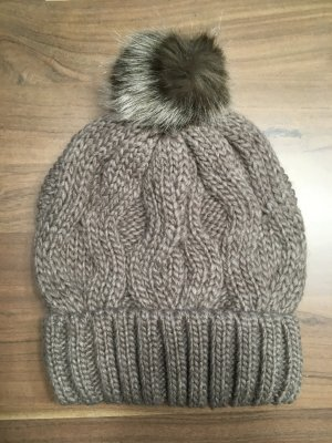 H&M Cap light brown-grey brown