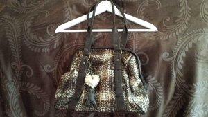 Schöne braun/beige Tasche, aussen aus Wolle
