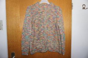 Schöne bunte Woll-Strickjacke von NUEVO Gr.40