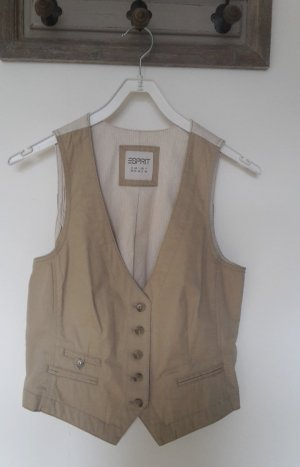 Esprit Denim Vest cream-beige