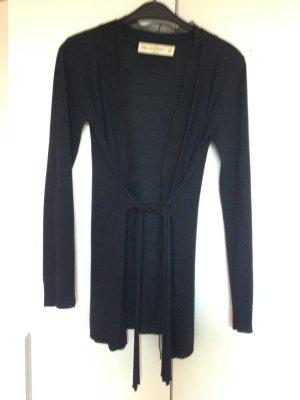 Schöne Cardigan schwarz Gr M mit seidigen Bündchen