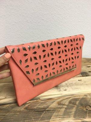 Bolso de mano salmón-color oro