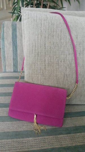 Schöne Clutch/Umhängetasche Pink wie neu!