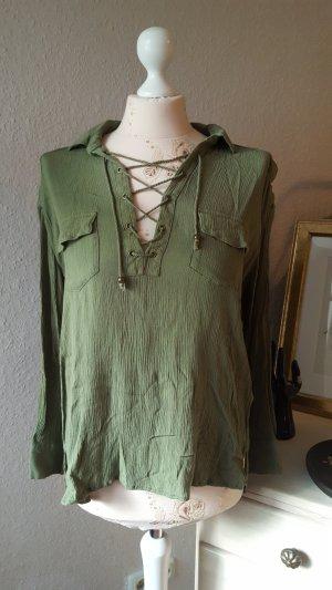 H&M Blouse khaki-olijfgroen
