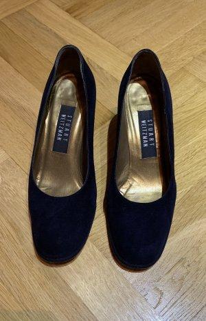 Stuart weitzman Chaussure à talons carrés bleu foncé