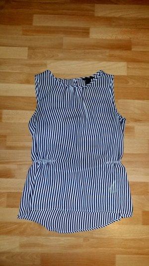 schöne Damen Bluse Oberteil in schwarz-weiß gestreift H&M  Gr. S