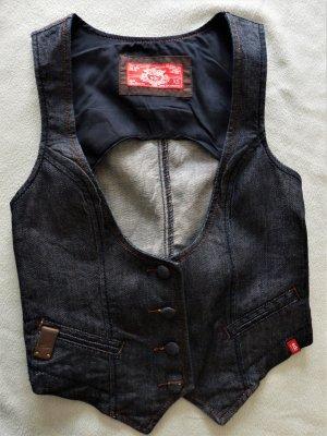 Schöne Damen Jeans Weste edc / esprit Gr. XS / 34 / 36 wie Neu dunkel-blau