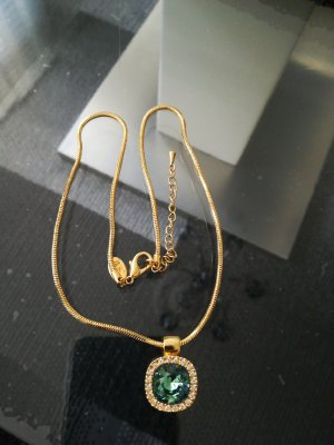 Necklace gold-colored-cadet blue