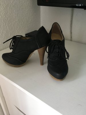 Lace-up Booties black-light brown