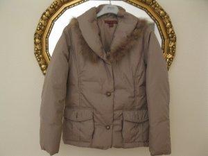 Manteau en duvet doré tissu mixte