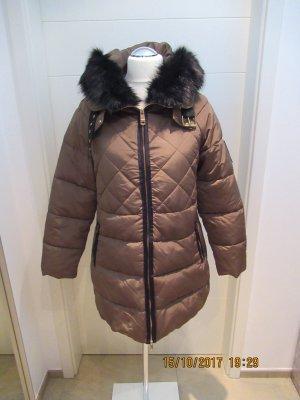 Zara Manteau en duvet marron clair-noir
