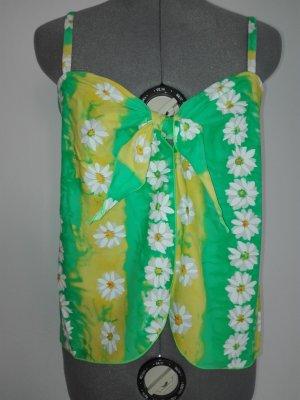 Schöne Designer Top in bund-grün-gelb und weiß Farbe aus Elasthan