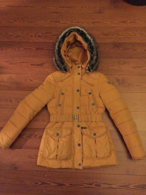 Schöne Dreimaster Winterjacke, senf-gelb, Größe S