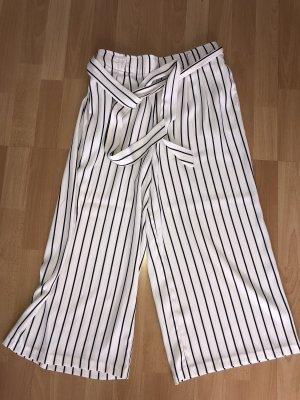 Amisu 3/4-broek wit-zwart