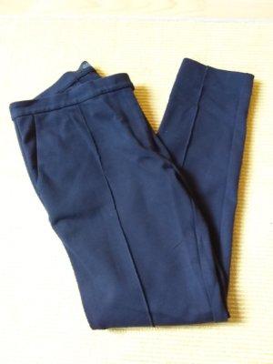 COS Stretch broek donkerblauw-blauw Viscose